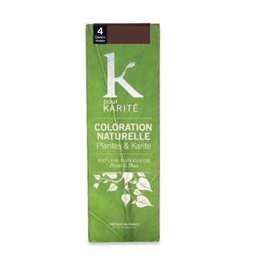 colorazione naturale castano k pour karite