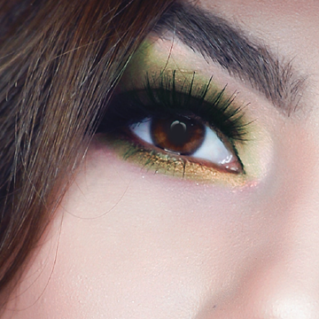 Immagine di Smokey eyes colorato verde
