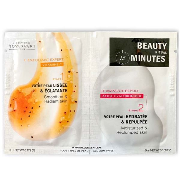 beauty minutes set anti age acido ialuronico + vitamina c novexpert